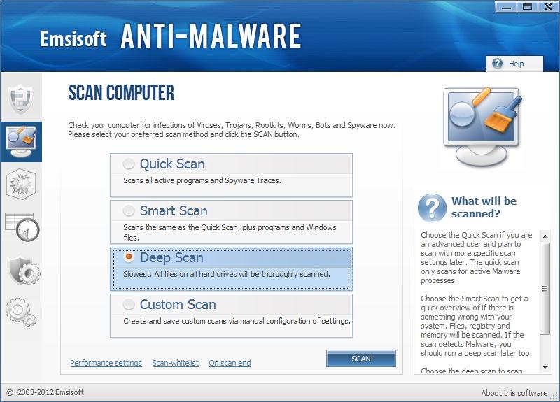 Στιγμιότυπο του Emsisoft Anti Malware