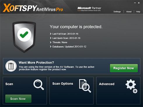 Στιγμιότυπο του XoftSpySE Anti Spyware