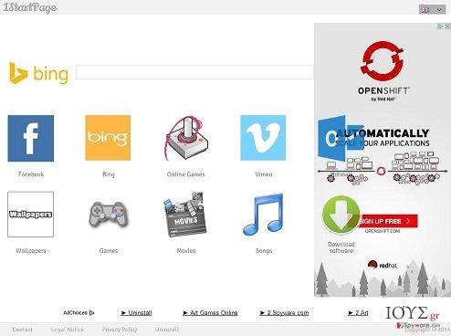 Στιγμιότυπο του 1startpage.com
