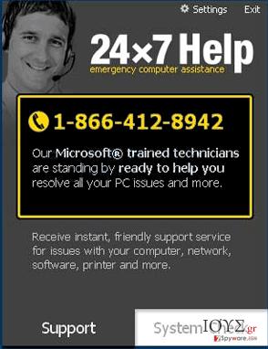 Στιγμιότυπο του 24x7 Help