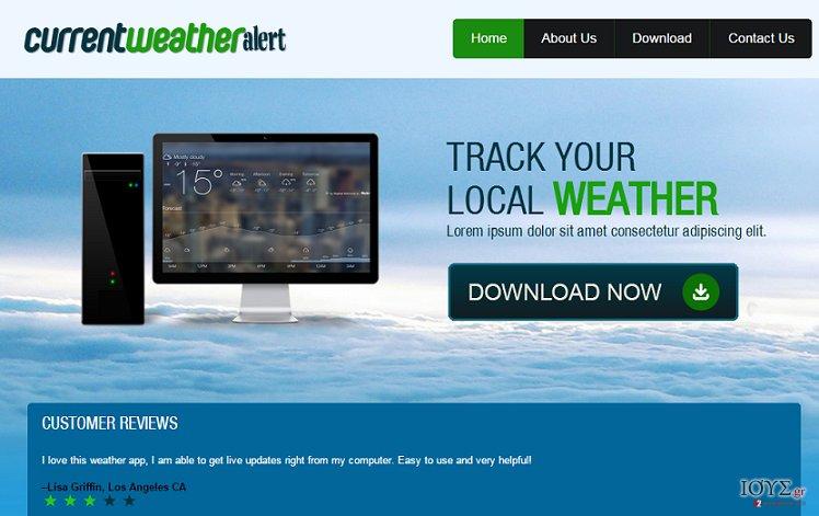 Στιγμιότυπο του Διαφημίσεις από Current Weather Alert