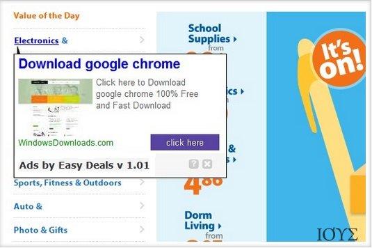 Στιγμιότυπο του Ιός FineDealSoft