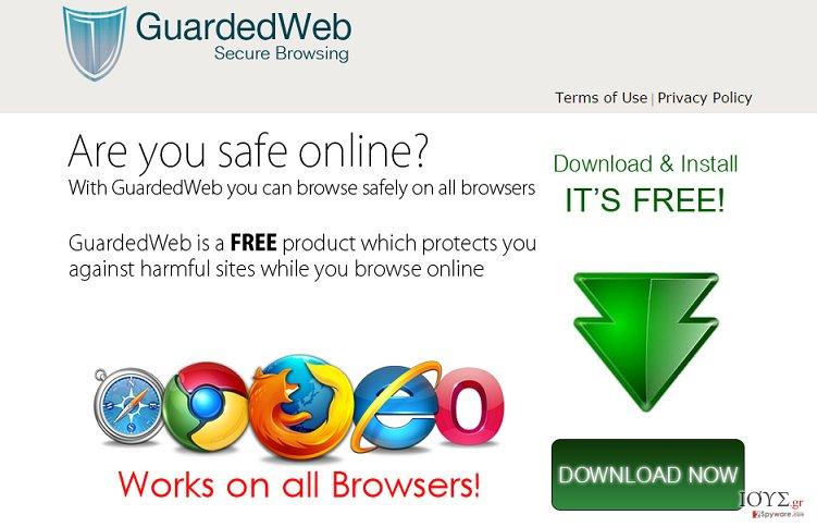 Στιγμιότυπο του Διαφημίσεις του GuardedWeb