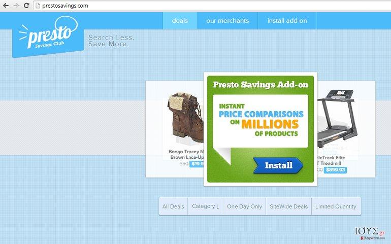 Στιγμιότυπο του Διαφημίσεις από PrestoSavings