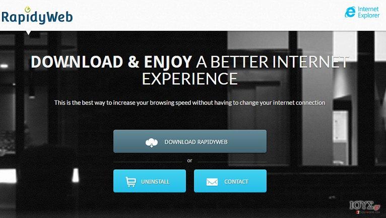 Στιγμιότυπο του Διαφημίσεις του RapidyWebIE