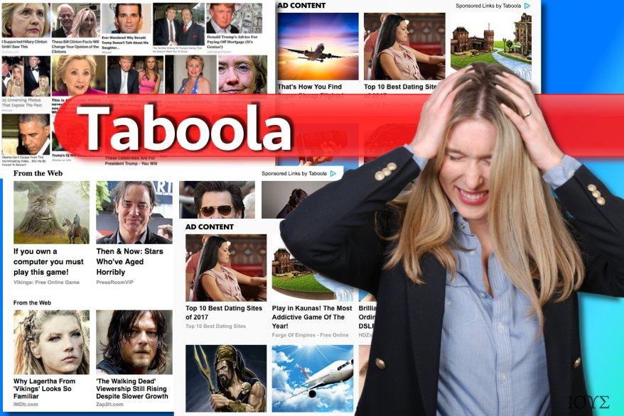 Χαρακτηριστικά παραδείγματα διαφημίσεων Taboola