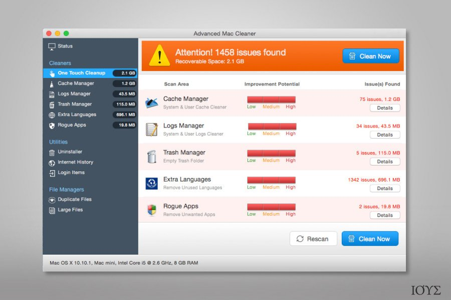 Advanced Mac Cleaner virus