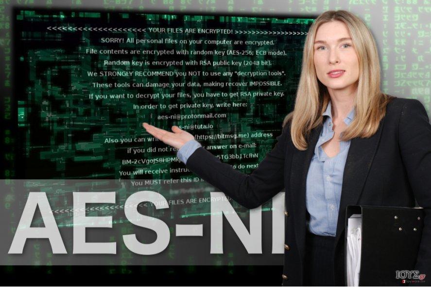 Εικόνα του ιού AES-NI ransomware