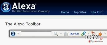 Στιγμιότυπο του Alexa Toolbar