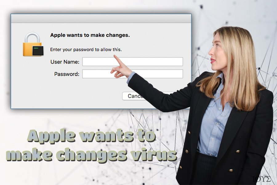 "Το ""Apple wants to make changes"" adware"