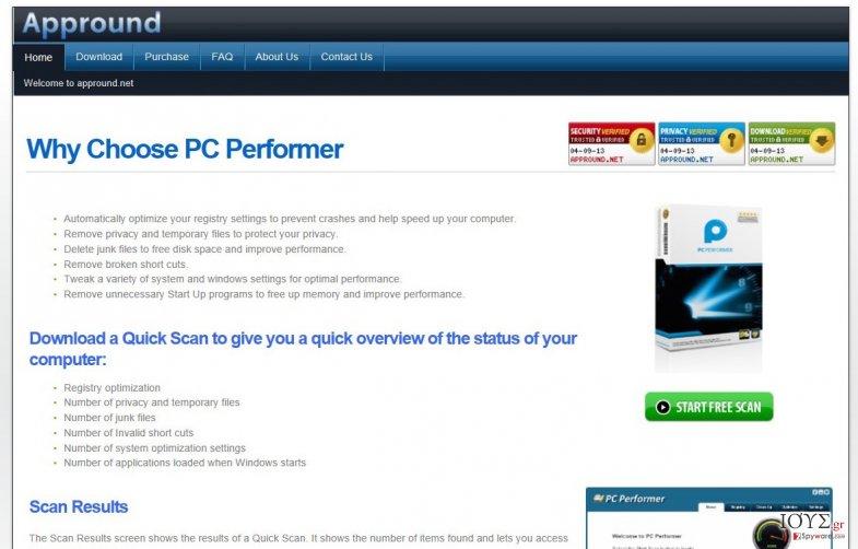 Στιγμιότυπο του Appround.net