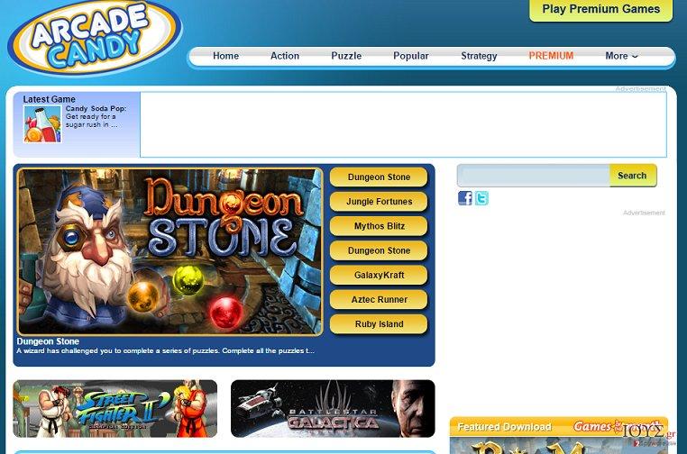 Στιγμιότυπο του Διαφημίσεις Arcade Candy