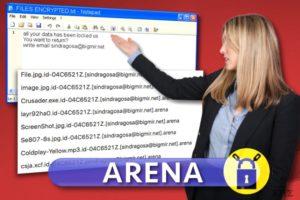 Ιός Arena ransomware
