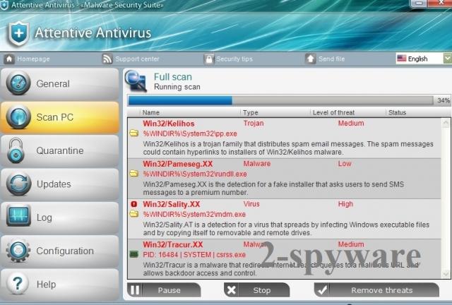 Στιγμιότυπο του Attentive Antivirus