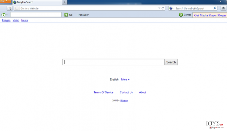 Στιγμιότυπο του isearch.babylon.com