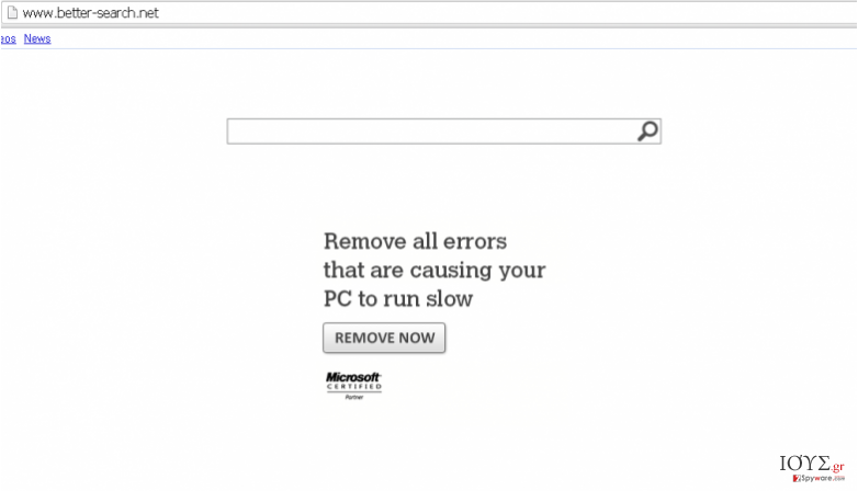 Στιγμιότυπο του Better-Search.net virus