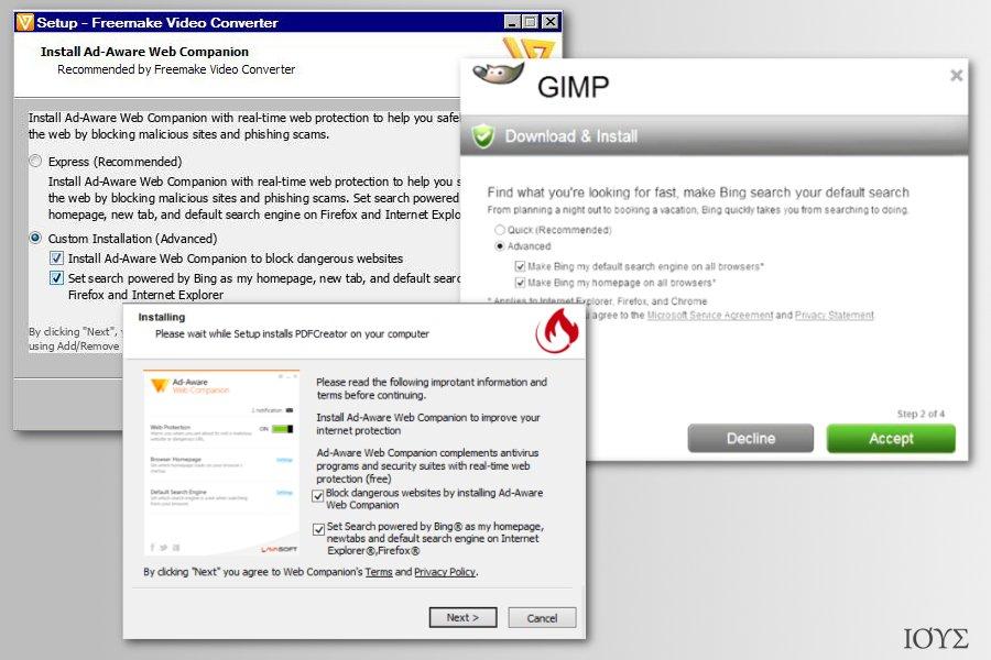 Στιγμιότυπο του Bing Redirect ιός
