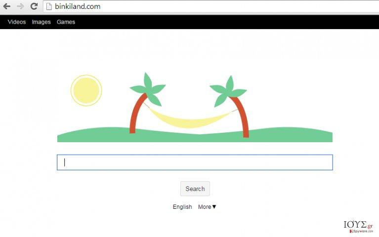 Στιγμιότυπο του Binkiland Search
