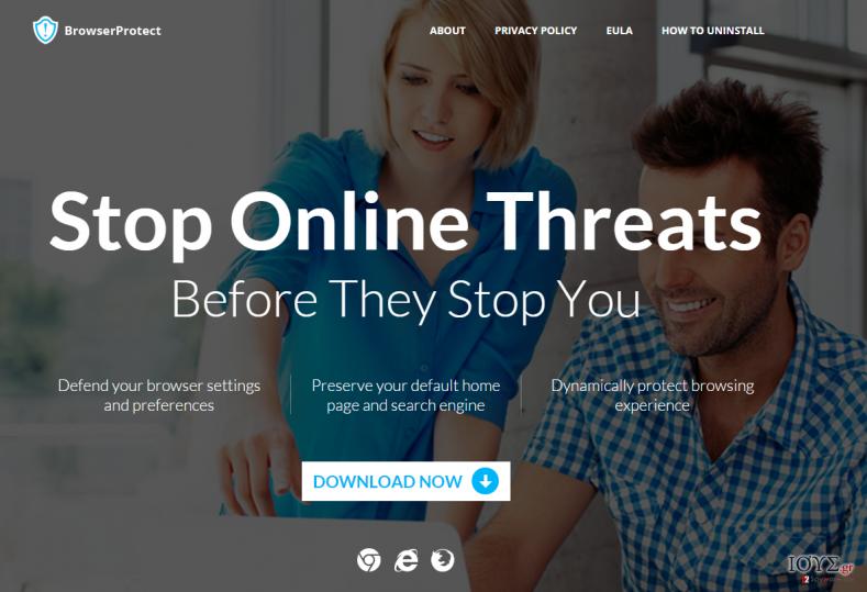 Στιγμιότυπο του BrowserProtect adware (ανεπιθύμητο λογισμικό διαφημίσεων)
