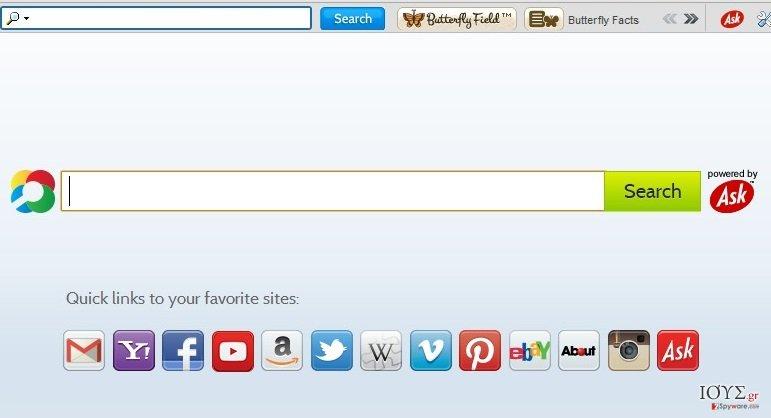 Στιγμιότυπο του ButterflyField Toolbar