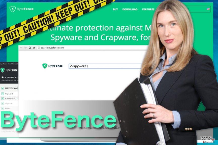 Στιγμιότυπο του Ανακατεύθυνση ByteFence