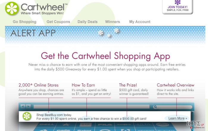 Στιγμιότυπο του Cartwheel Shopping ΙΟΣ