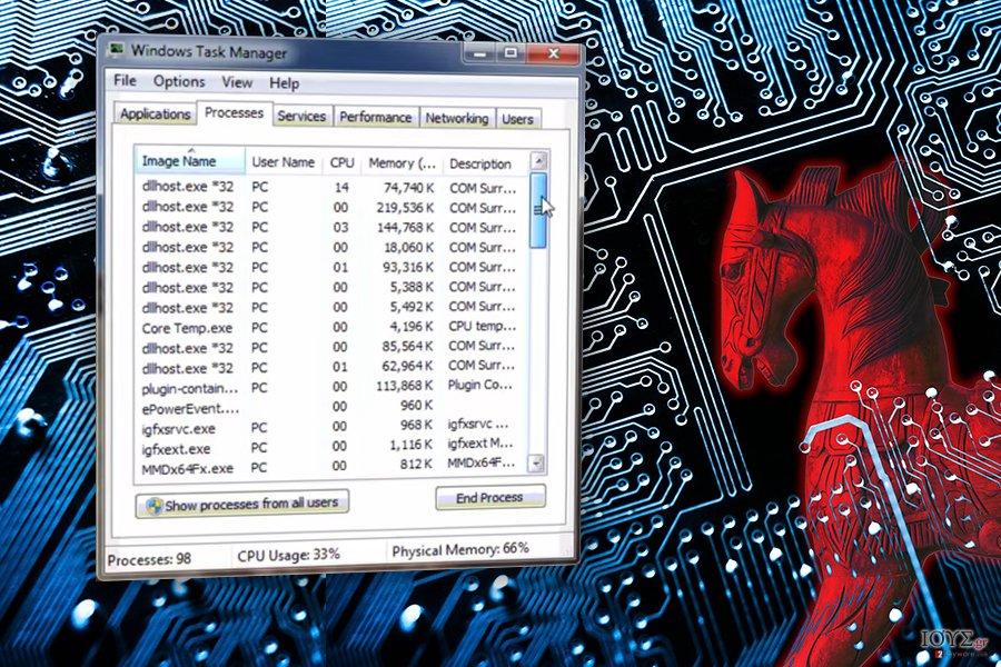 Στιγμιότυπο του Ιός COM surrogate