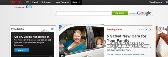 Στιγμιότυπο του Comcast.net