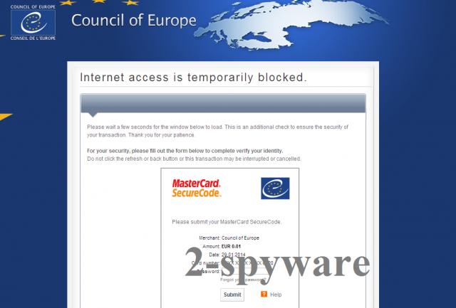 Στιγμιότυπο του Council of Europe virus