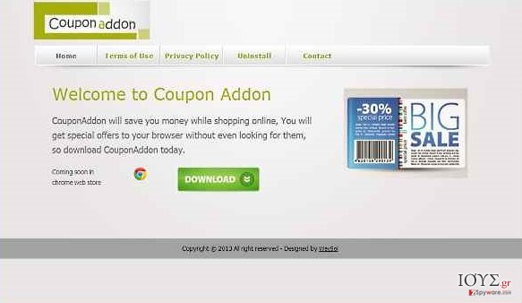 Στιγμιότυπο του CouponAddon ιός