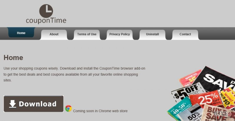 Στιγμιότυπο του CouponTime ιός