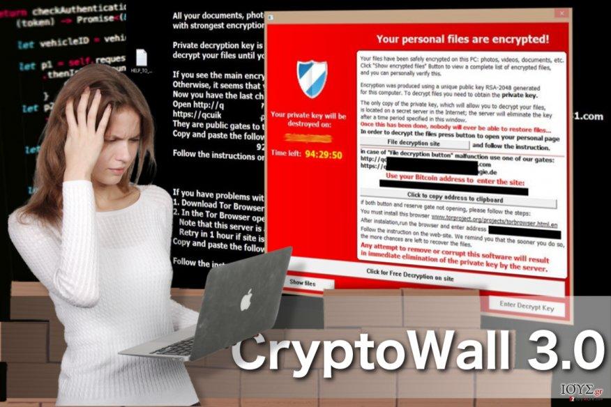 Στιγμιότυπο του Ιός CryptoWall 3.0