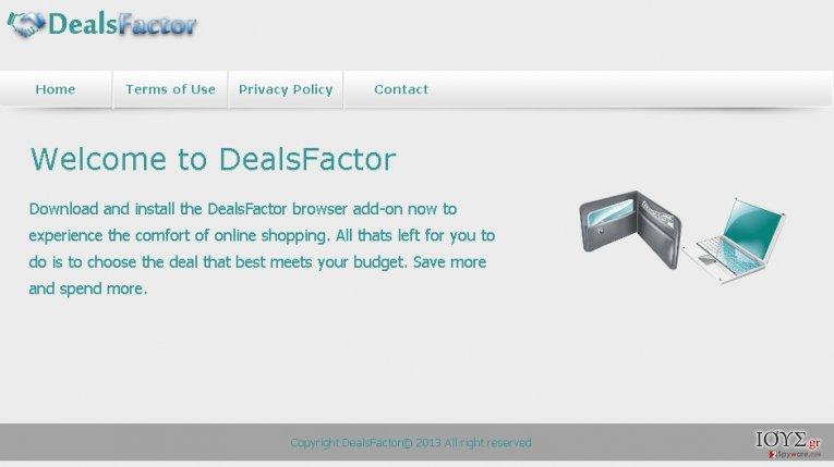 Στιγμιότυπο του DealsFactor ΙΟΣ