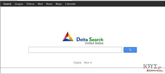 Στιγμιότυπο του Delta-search.com redirect