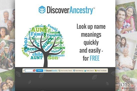 Στιγμιότυπο του DiscoverAncestry Toolbar