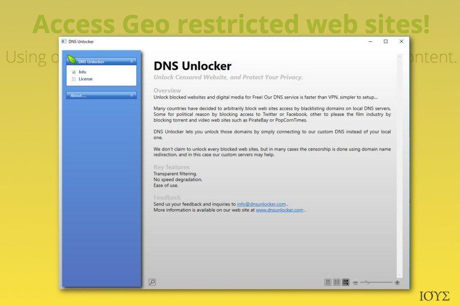 DNS Unlocker adware (ανεπιθύμητο λογισμικό διαφημίσεων)