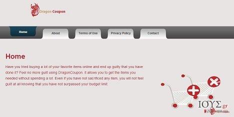 Στιγμιότυπο του DragonCoupon virus