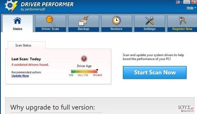 Στιγμιότυπο του Driver Performer
