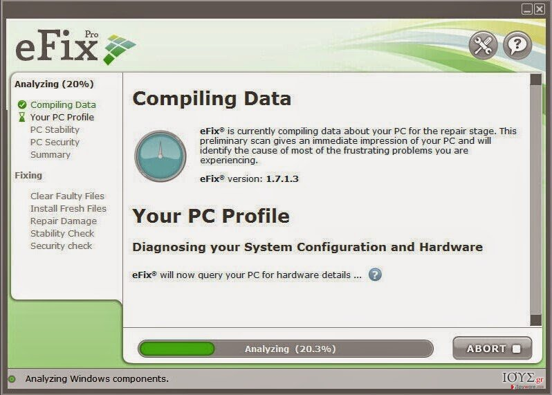 Στιγμιότυπο του eFix Pro