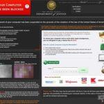 Στιγμιότυπο του FBI Virus Black Screen