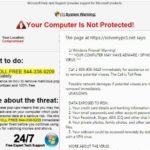 """Στιγμιότυπο του """"Firewall Warning"""" αναδυόμενο μήνυμα"""