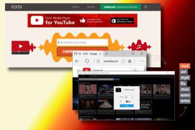 Απεικόνιση του ιού Flvto Youtube Downloader