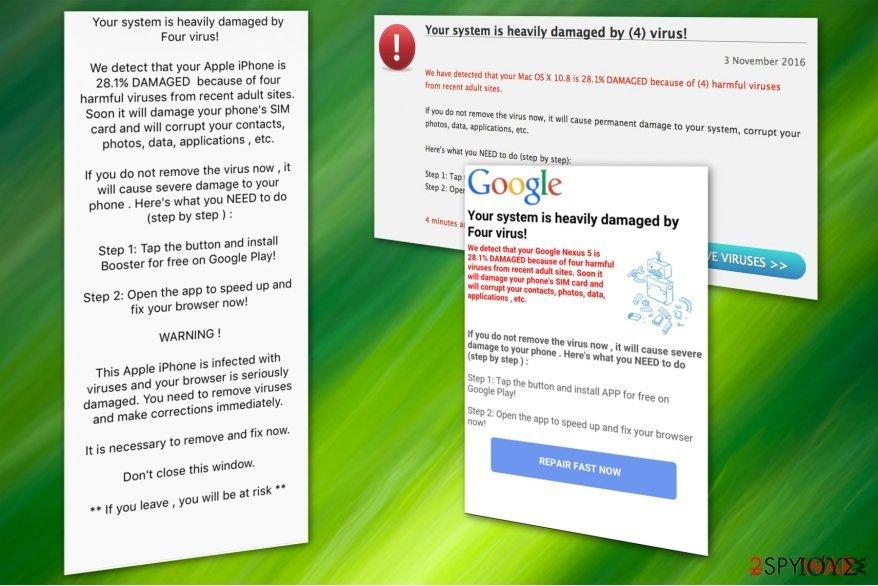 Η διαδικτυακή απάτη (scam) με τον ιό Four