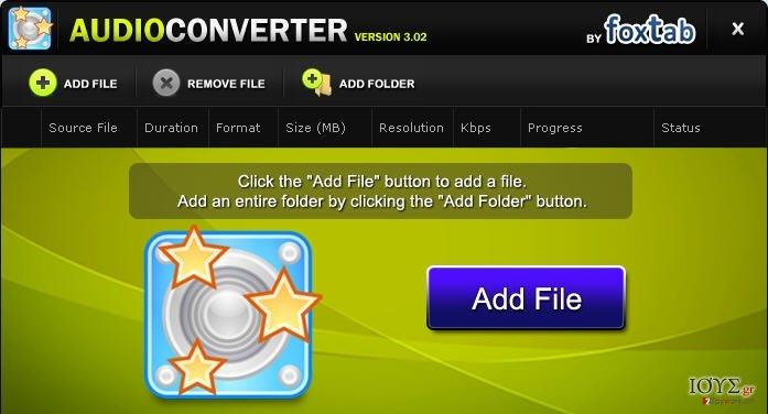 Στιγμιότυπο του FoxTab Audio Converter
