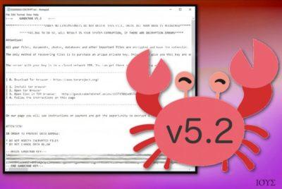 Ο ιός GandCrab 5.2 ransomware