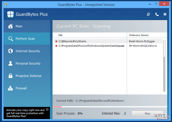 Στιγμιότυπο του GuardBytes Plus