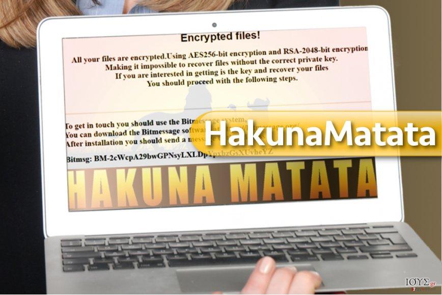 Στιγμιότυπο του Ιός HakunaMatata ransomware