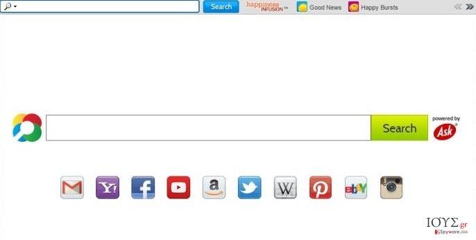 Στιγμιότυπο του HappinessInfusion Toolbar