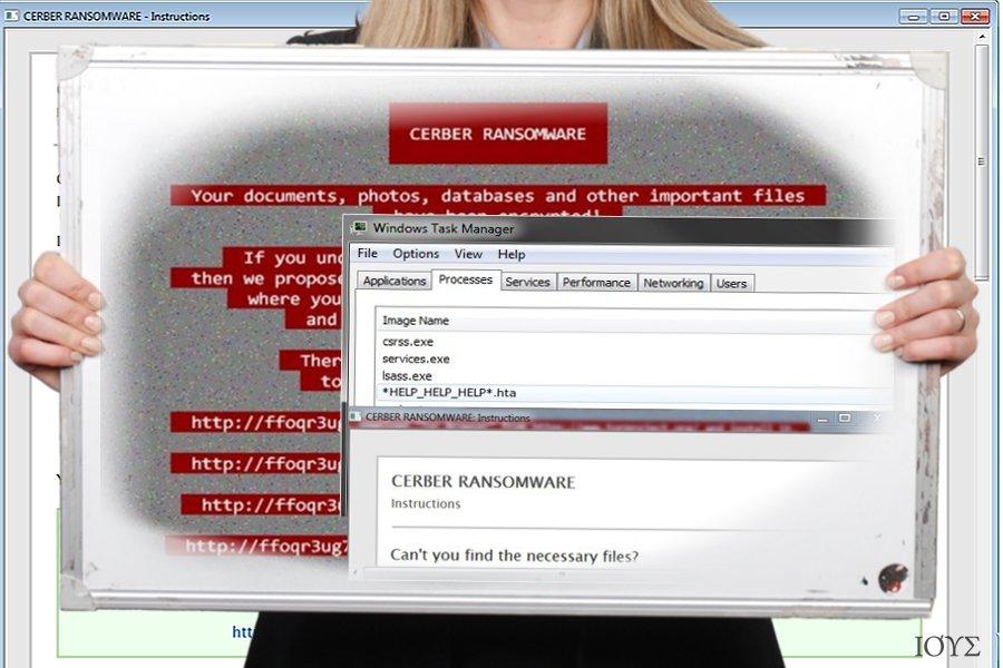 Στιγμιότυπο οθόνης του ιού Help_help_help ransomware