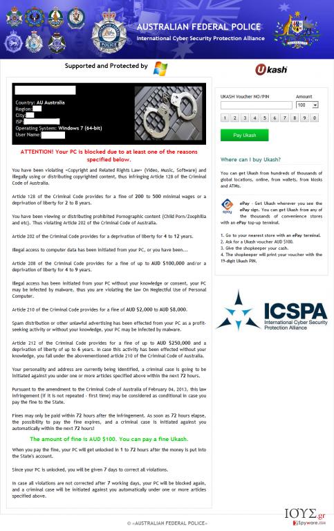 Στιγμιότυπο του ICSPA virus